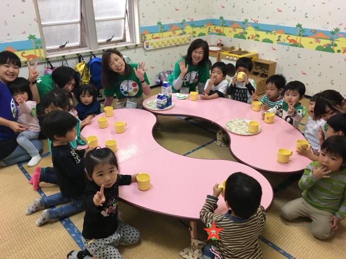 今日の幼稚園。